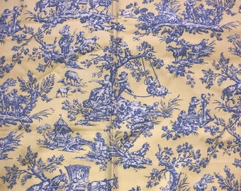 Kaufmann Fabrics Pastimes Bluebell Soil & Stain Repellent Fabric