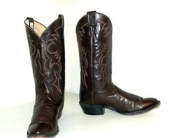 Brown Remington cowboy boots size 8 D or cowgirl size 9.5