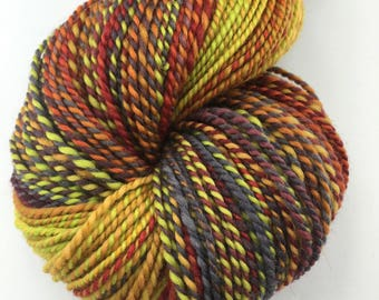 "Handspun Yarn Worsted Finn 250 yds. ""Satisfied With Summer"""