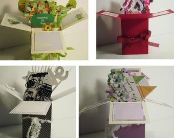 Handmade Thinking of You  Pop up Exploding Box Cards-Free ship USA
