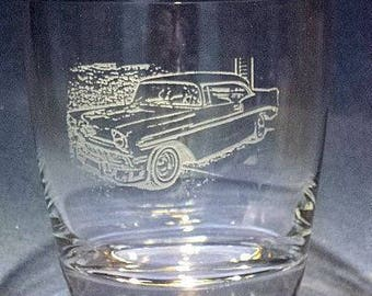 Custom Car gift vintage auto gift 55 Chevy gift car lover gift gift for car lover car lover gift idea car mug car beer mug custom car glass
