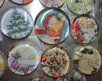 Set of 4 Christmas Paperweights / Christmas decor / Christmas Table Decor / Christmas Glass Paperweights