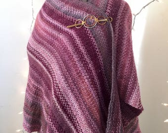 Under the Pink Wrap, handknit