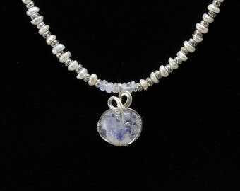 Moonstone Necklace. Listing 531757554