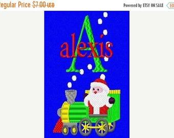 SALE 65% OFF Christmas Santa Train Machine Embroidery Monogram Fonts Designs Instant Download Sale