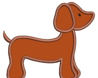 SALE 65% OFF Applique Dachshund Dashound Doxie Dog Machine Embroidery Designs Instant Download Sale 4x4 and 5x7