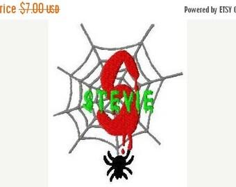 SALE 65% OFF Halloween Spider Machine Embroidery Monogram Fonts Designs Instant Download Sale