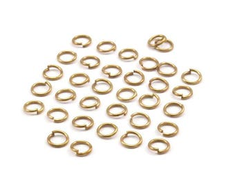 5mm Jump Rings - 250 Raw Brass Jump Rings (5x0.70mm) A0322