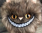 NEW! Tindle Kitty Pillow 11 inch grinning super plush brown fur by Karen Knapp of Tindle Bears