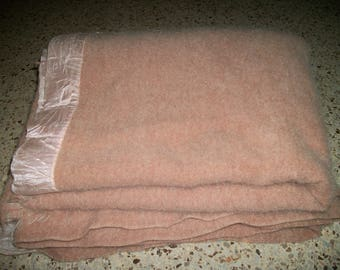 """Vintage Wool Cutter Blanket. 60"""" x 72"""". For felting and crafting purposes only."""