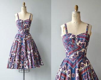 Bandana dress   vintage 1950s dress   cotton 50s sundress