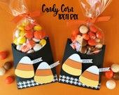 KIT Halloween Treat Bag, Candy Corn, Party favor, Gift Card Holder, Treat Box, Teacher Appreciation, Co-Workers Treat, Classroom Treats