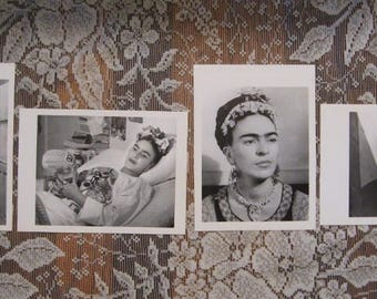 Frida Kahlo Postcard Prints - Set of 4 - Black and White