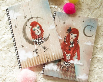 "Notebook set - Illustrated notebooks - circus - blythe - ""In My Arms"""