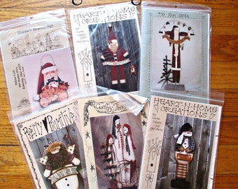 SiX PRiMiTiVe CouNTRY WooD CHRiSTMaS - WiNTeR PaTTeRNS