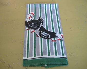 Vintage Linen Chicken Kitchen Towel