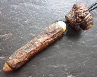 Natural Wood Pendulum/Pendant/Mini Wand - Holly - for Your Inner Warrior.