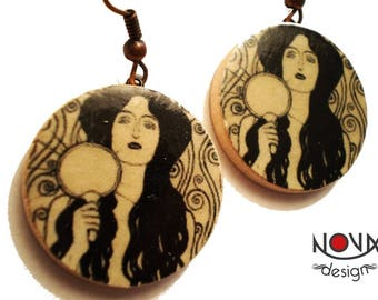 Gustav Klimt Nuda Veritas-earrings