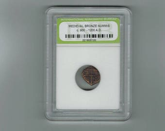 Ancient Medieval bronze nummis  coin C- 900 -  1200- AD