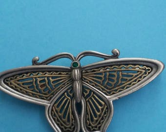 JJ Collectible Butterfly Broich Pin Mixed Metals