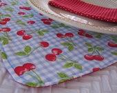 Custom - 4 sets de table et serviettes