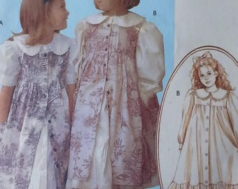 Girls Pinafore Pattern Mccalls M4648 Girls Ruffles and Lace Dress and Pinafore Pattern Girls Size 2 3 4 5