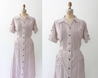 50s cotton dress / vintage 1950s dress / Brentwood dress