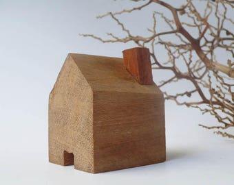 Wooden House / Miniature House / Home Decor/ Natural Wooden House/ Cottage/ Terrarium Accessories/