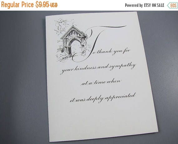 Christmas in July Sale Lot of 38 elegant vintage / 1970s / condolence / sympathy / thank you / greeting card / note cards / blank inside / s