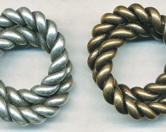 """Large VINTAGE LOVE KNOT or Ring for Pendant Or Toggle--1 Piece 1"""" Diameter"""
