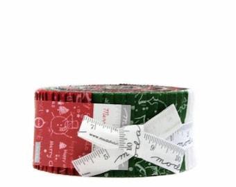 SUMMER SALE - Merry Scriptmas - Jelly Roll - Moda Fabric - Christmas