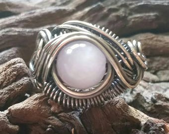 Genuine Kunzite Dragon's Eye Ring Size 6
