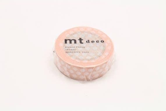 mt deco  - hougan dot orange - washi masking tape - 1pc