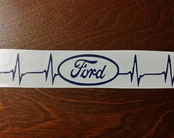 1 Ford Heartbeat Vinyl Decal Car Sticker