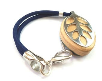 Bellabeat Leaf bracelet  - Heading to the gym?  Simple stretchy colorful double band with silver moderno accent 7 COLORS to choose from