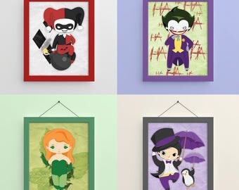 Gotham Villains 1 8x10 Prints
