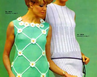 Vintage PDF Patterns Dresses Crochet~Knitting Suit Coat e-Patterns 1960's Bust Sizes 34-42 Inches PDF Reproduction Digital Download