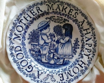 SALE Mothers Day Plate Staffordshire England Royal Crownford by Norma Sherman A tribute to mothers all year long Mothers Day Gift