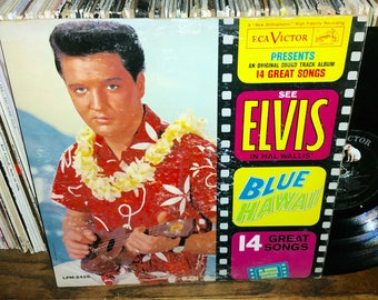 Elvis Blue Hawaii Vintage Vinyl Soundtrack Record