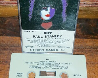 Kiss Paul Stanley Vintage Audio Cassette Tape