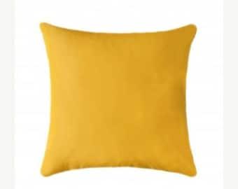 Yellow Outdoor Pillow, Sunbrella Canvas Sunflower Yellow Outdoor Pillow, Sunbrella Throw Pillow, Free Shipping, yellow sunbrella pillow