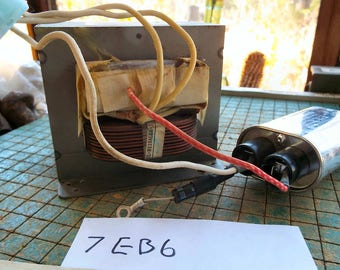 Microwave oven transformer, recycle objy2 MOT, repurpose, upcycle, mad science, 7EB6