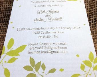 tranquil birds wedding invitation