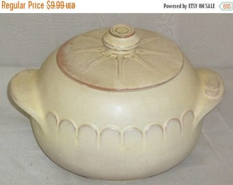 ON SALE Vintage Frankoma Lazy Bones Wagon Wheel Pottery Soup Tureen Lid