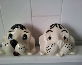 Vintage Ceramic Doggie Eye Glasses Holder