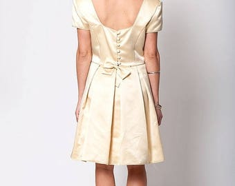40% SUMMER SALE The Vintage Pastel Yellow Party Dress