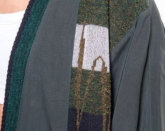 40% OFF CLEARANCE SALE The Vintage Silk Forest Green Wrap Cardigan