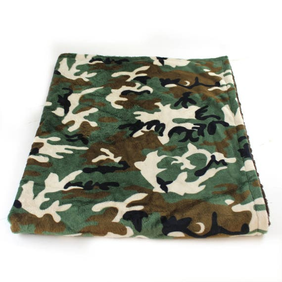 Camo Minky Baby Blanket Boy, Green Brown Camouflage Blanket Personalized Baby Blanket // Camo Baby Blanket // Hunter Baby Blanket