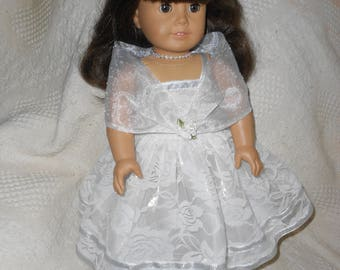 American Girl Doll Little Princess Dress Made for Maryellen, Molly, Marie Grace, Cicile and other 18 inch Dolls