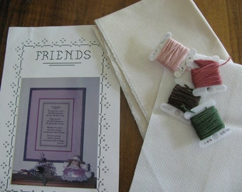 "Cross Stitch Kit ""Friends"" by Eventide Designs"